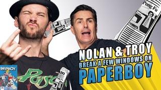 RETRO REPLAY  - Nolan & Troy Break a Few Windows on Paperboy