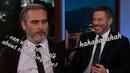 Joaquin Phoenix feeling uncomfortable and awkward on Jimmy Kimmel interview