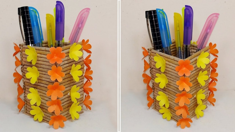How to Make Very Beautiful Paper Pen Pencil Stand DIY Pen Holder Abigail Paper Crafts