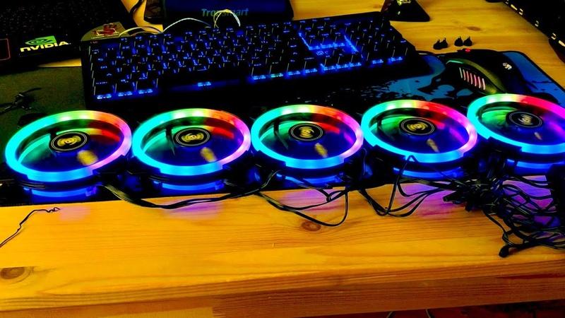 Корпусные вентиляторы Aigo DR12 RGB Кулер с подсветкой для компьютера с AliExpress