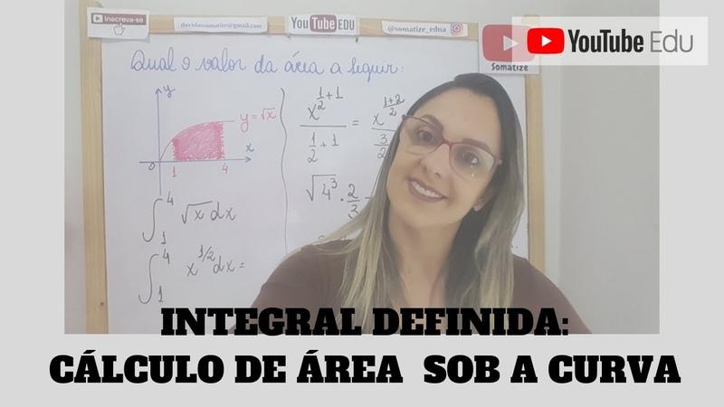 Qual a área sob a função - Integral definida - Somatize - Professora Edna Mendes