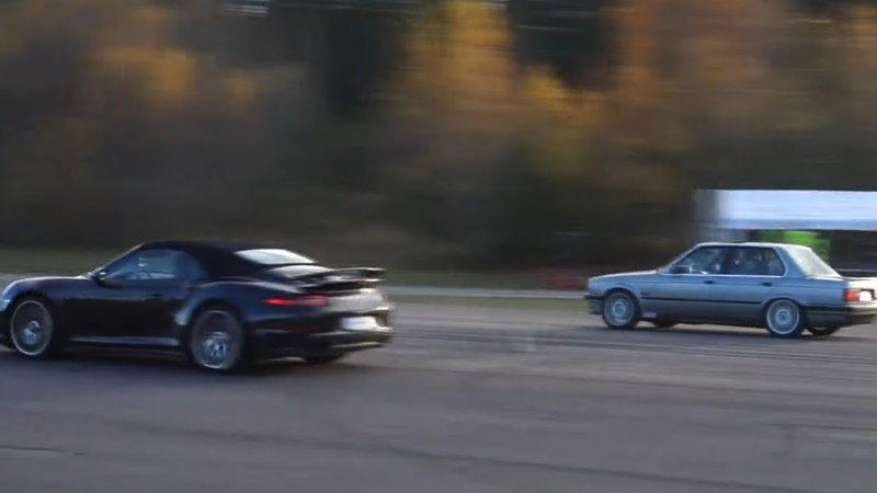 Porsche 991 Turbo S Convertible vs BMW 325iX E30 Turbo Sedan by Nisse Järnet