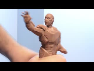 One day sculpts  war machine and okoye - timelapse