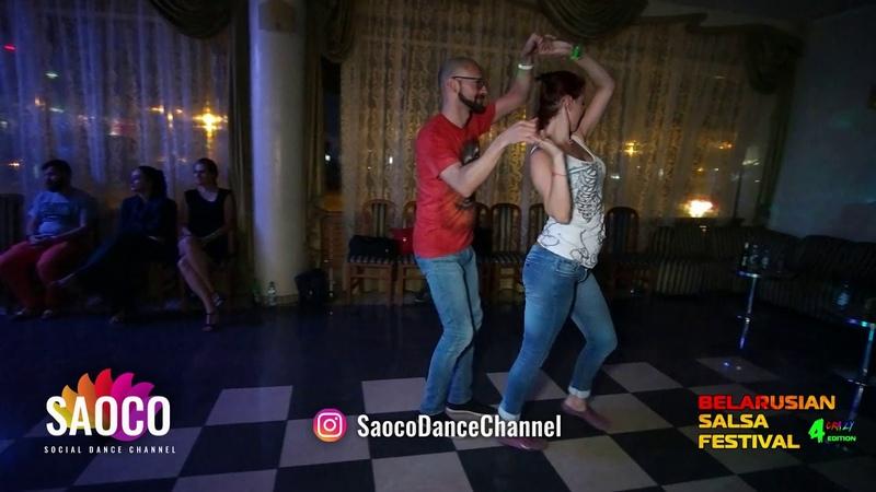 Mihail Gubenko and Ksenia Kozlovskaya Salsa Dancing at Belarusian Salsa Festival 2018, Sun 30.09.18