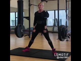 Становая тяга 145 кг  года (Виктория Бряккиева).