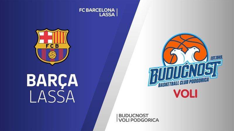 FC Barcelona Lassa - Buducnost VOLI Podgorica Highlights   Turkish Airlines EuroLeague RS Round 29
