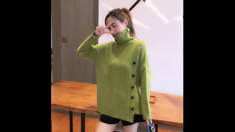 Autumn and Winter New Thickened Warm Turtleneck Sweater Womens Solid Color Casual Knit Sweater Women Winter Clothing