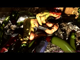Poison ivy, wonder woman and tentacles 60fps 1080p (dc sex)