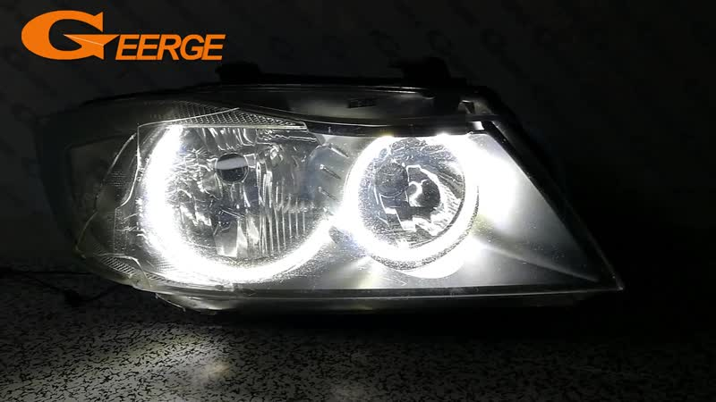 For BMW 3 Series E90 E91 saloon touring 2005-2008 Halogen headlight Excellent Ultra bright illumination smd led Angel Eyes kit