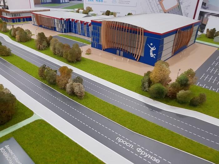 Губернатор Дмитрий Миронов и министр строительства оценили проект ярославского волейбольного центра