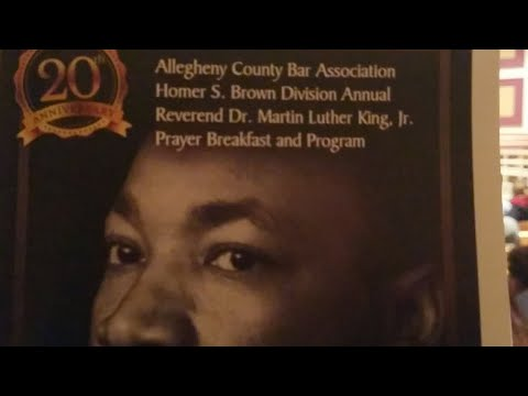 Allegheny County Bar Association's Homer S Brown MLK Program