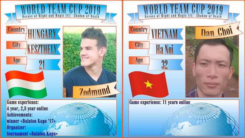 38. HoMM3. SoD. Zodmund (Hungary) vs Dan Choi (Vietnam). World Team Cup 2019. Karnaval SU