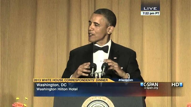 President Obama at 2013 White House Correspondents Dinner (C-SPAN)