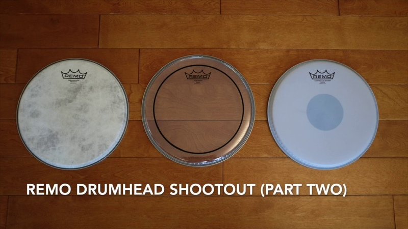 Remo drumhead shootout (part 2): Fiberskyn, Pinstripe, CS Coated Black Dot with DW drums