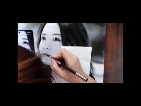 Vẽ tranh Chân Dung hotgirl bằng Bút chì
