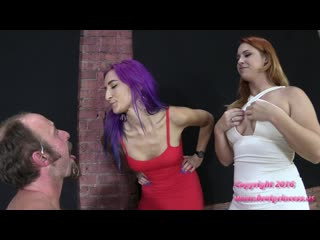Slave covered in spit [femdom, spitting, humiliation]