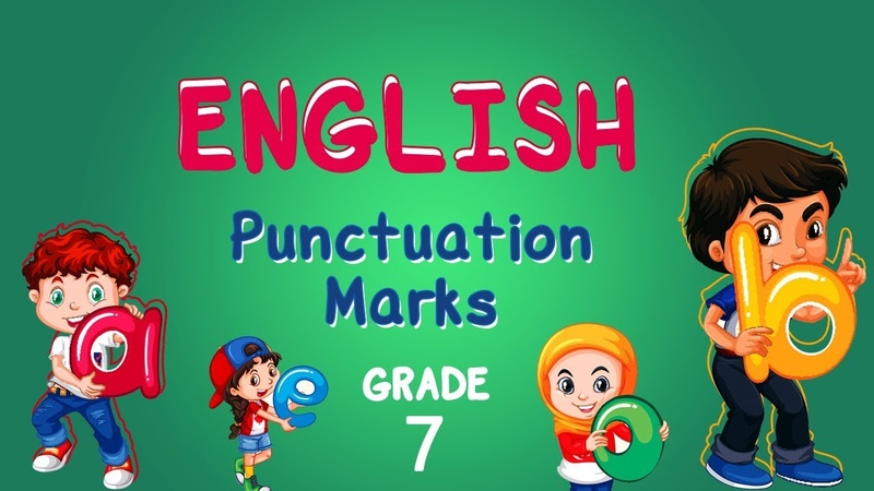 English Grade 7 Punctuation Marks Capital letters Commas and Full Stop Writing