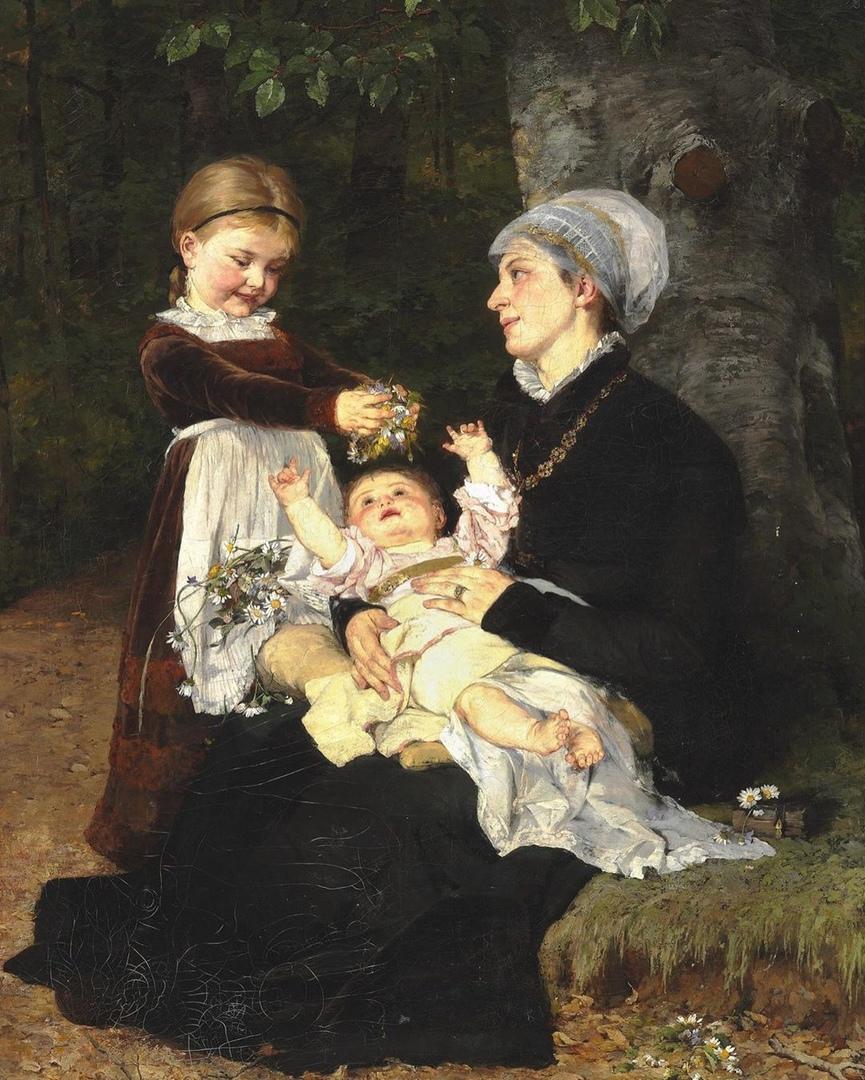 Подборка работ датской художницы -портретистки немецкого происхождения Берты Вегманн