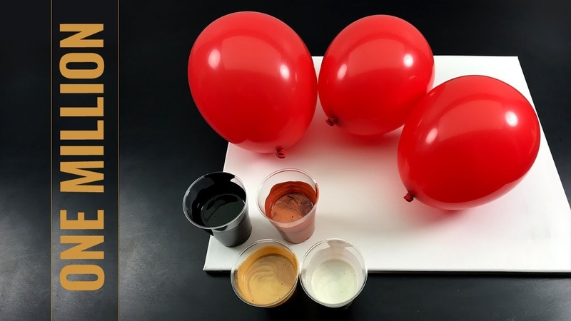One Million Dollar - Fluid Painting - BALLOON DIPPING DELUXE - with nacre, cooper and fluid gold