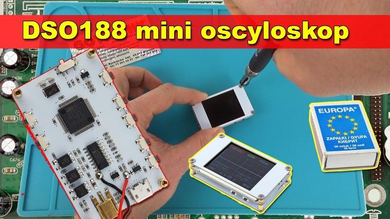 DSO188 miniaturowy oscyloskop cyfrowy budowa wewnętrzna