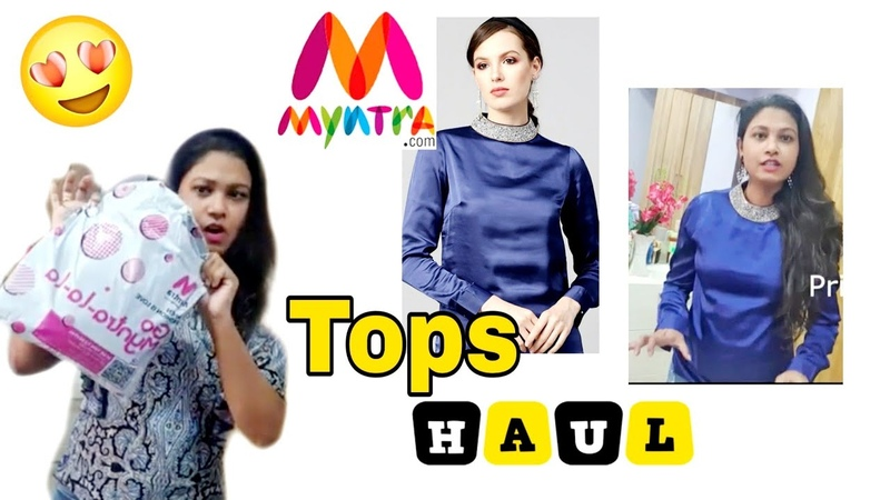 Myntra Tops Haul 2020 and Try On with my Reviews Pam's Station