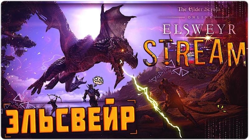 Драконы и Каджиты в Эльсвейре The Elder Scrolls Online►на русском ВЕЧЕРНИЙ STREAM