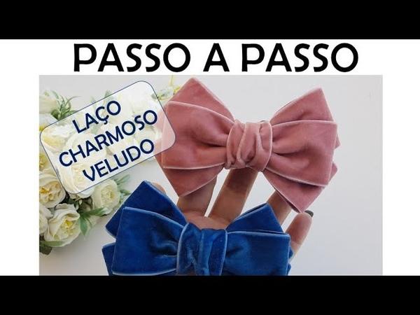 LAÇO CHARMOSO VELUDO PAP DIY