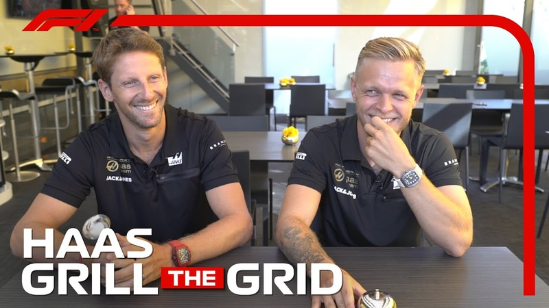 Haas Romain Grosjean and Kevin Magnussen! | Grill The Grid 2019