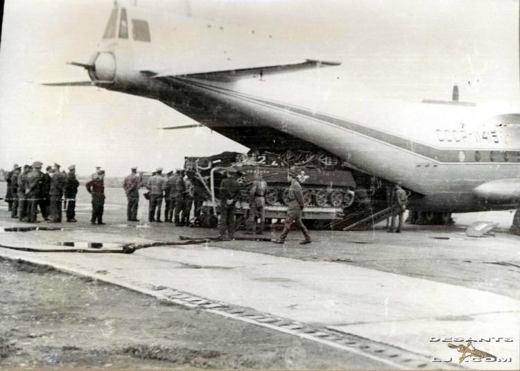 Система экспериментального десантирования БМД-1 из самолета Ан-12
