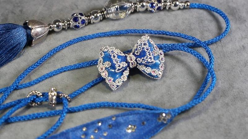 синяя ринговка с бантиком