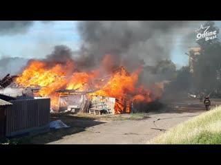 Сегодня в Б. Мотыкалах произошёл большой пожар