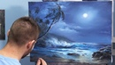 Bright Moonlit Ocean Paint with Kevin ®