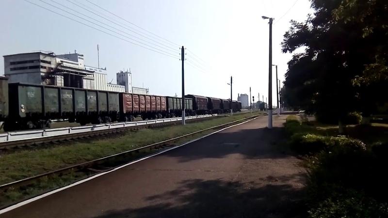 Тепловоз 2ТЕ10ут 0036 с детским поездом 245 Кривой Рог Брылевка