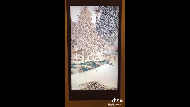 Захватывающее видео о 3D-панораме китайской национальной живописи художника династии Мин Сян Шэнмо «Чтение в осеннем лесу», опуб