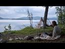 Solo bushcraft trip northern wilderness canoeing net fishing chaga lavvu etc long version