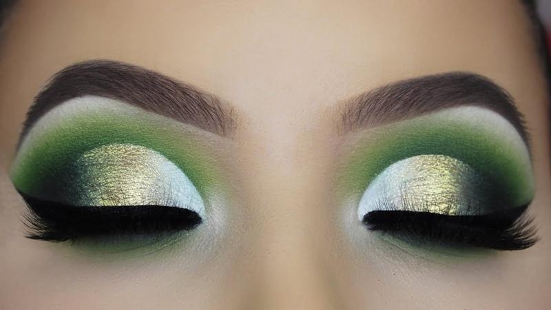 Glamorous Green Cut Crease Tutorial