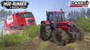 Spintires MudRunner CASE IH 1455XL TRACTOR Pulls a Semi Truck out of the River