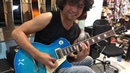 Amazing electric guitar sounds at the speed of light
