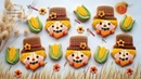 How to make SCARECROW Mini CORN cookies ~ by using repurposed cookie cutters!