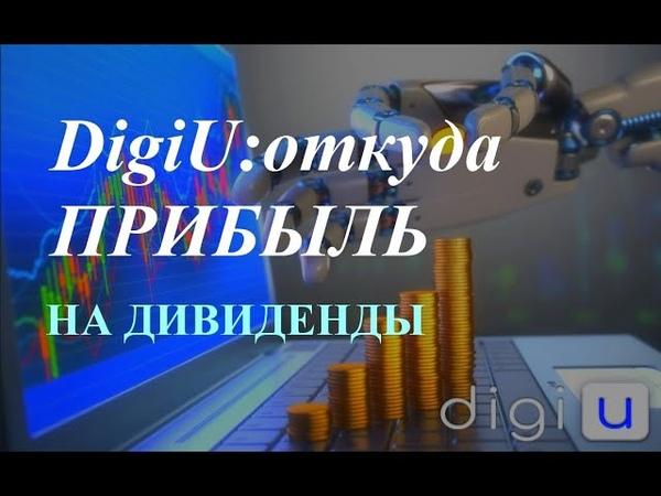 🌐 DigiU откуда прибыль на дивиденды для инвесторов 29 05 2020