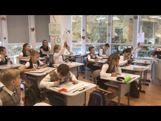 Урок математики в 3 классе проводит мама Софии