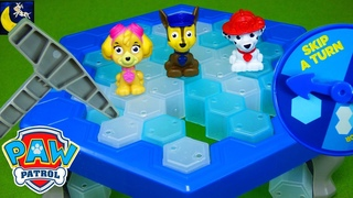 Paw Patrol Games Don't Drop Chase Don't Break the Ice Mini Pup Toys Chase Skye Marshall Kids Video