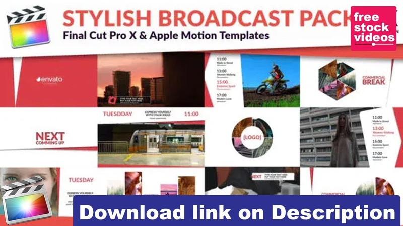 Clean TV Stylish Broadcast Pack 26864143 Videohive Free Final Cut Pro Template free stock videos