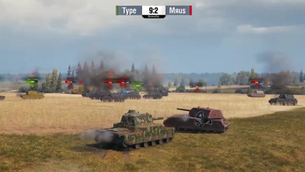 World of Tanks: Type 5 Heavy vs Maus. Реванш - Танкомахач 101