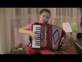 Девочка девяти лет нереально играет на аккордеоне!!! Талант от БОГА!!!
