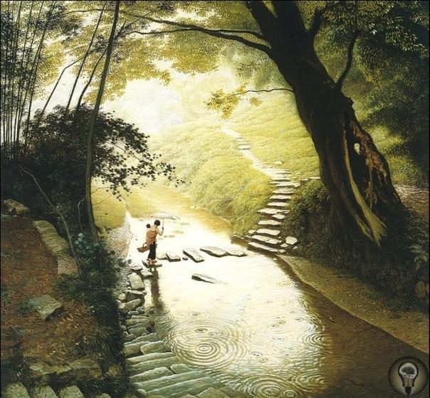 Медитация и созерцание в картинах Jian Chong Min