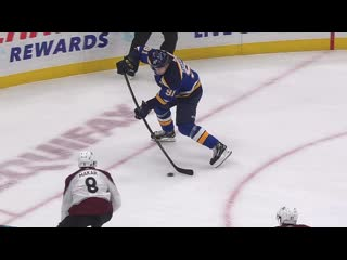 Tarasenko scores from down low oct 21, 2019