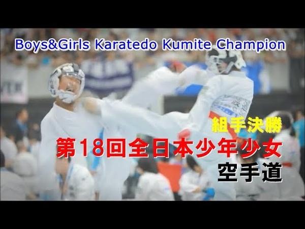 空手キッズ頂上対決 組手決勝 第18回全日本少年少女空手道選手権大会 karatedo
