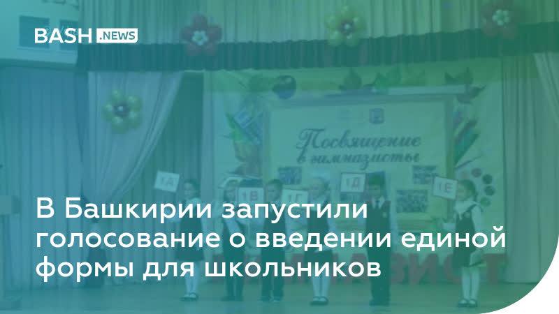 Мнения разные в Башкирии запустили голосование о введении единой формы для школьников