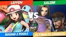 SSC 2019 SSBU - TSM Leffen (Trainer) VS MVG Salem (Snake, Hero) Smash Ultimate Round 2 Pools
